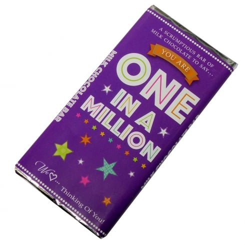Words & Wishes One In A Million Milk Chocolate Bar