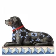 Onyx Black Labrador Dog Figurine