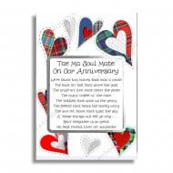 Oor Anniversary Twa Halves Scottish Card