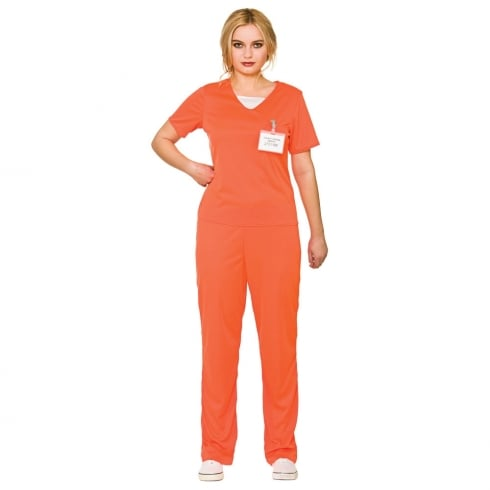 Wicked Costumes Orange Convict - Female Large