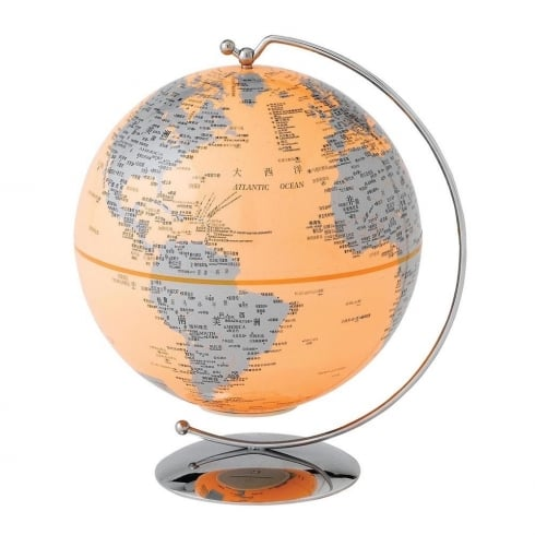 Globe Collection Orange Light-Up Globe