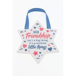 Our Friendship Hanging Plaque
