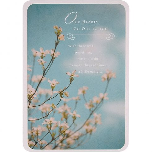 Hallmark Out Hearts Go Out To You - Sympathy Bereavement Card 11354904