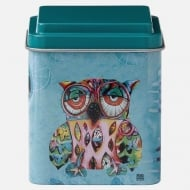 Owl Design Metal Storage Tin