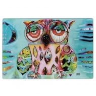 Owl Glass Chopping Board / Hotpad