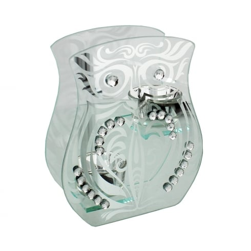 Hestia Owl Mirrored Double Tea Light Holder