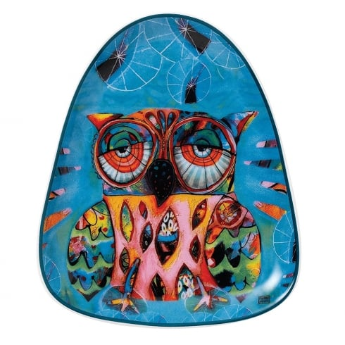 Allen Designs Owl Triangular Ceramic Plate