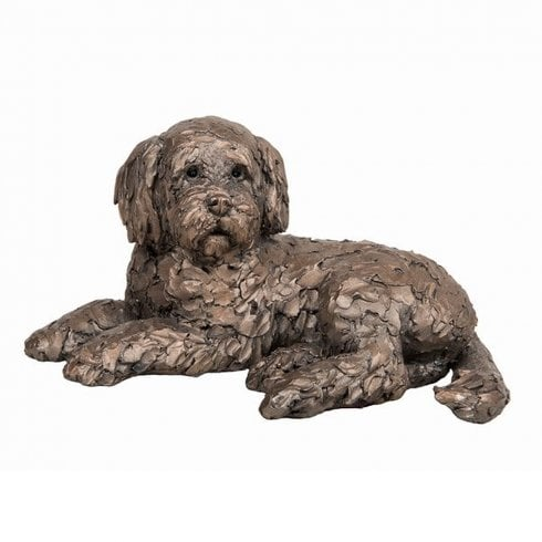 Frith Sculptures Ozzy Cockapoo Lying Bronze Figurine