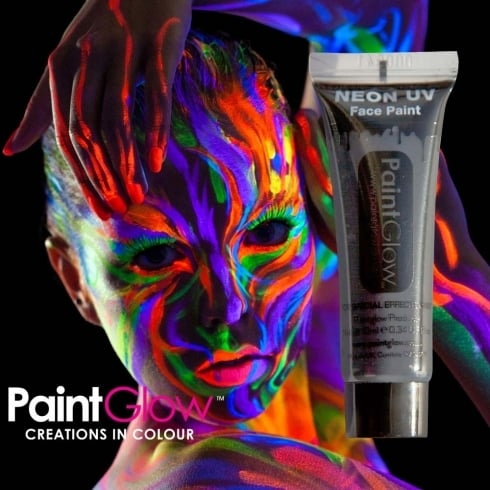 Wicked Costumes PaintGlow Neon UV Face & Body Paint Black