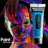 PaintGlow Neon UV Face & Body Paint Blue