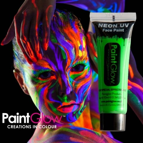 Wicked Costumes PaintGlow Neon UV Face & Body Paint Green