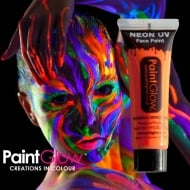 PaintGlow Neon UV Face & Body Paint Orange