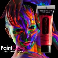 PaintGlow Neon UV Face & Body Paint Red