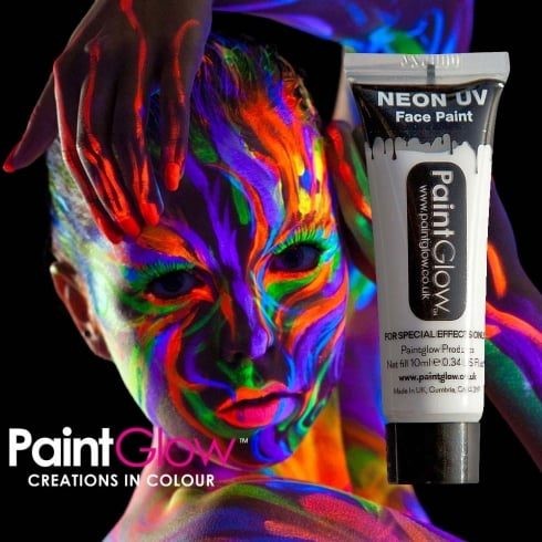 Wicked Costumes PaintGlow Neon UV Face & Body Paint White