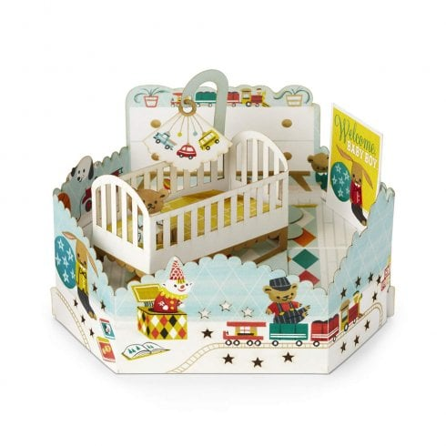 Hallmark Paper Wonder 3D Pop Up Welcome Baby Boy Card 25522164