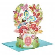 Paper Wonder Birthday Flowers 3D Pop Up Card 25522158