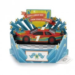 Paper Wonder Race Car Pop Up 3D Birthday Card 25522167