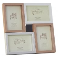 Pastel Metalic Multi 4 Picture Photo Frame