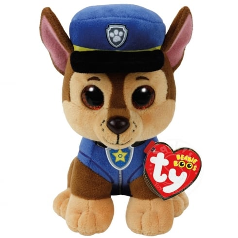 5418a5df609 TY Paw Patrol Beanie Boos - Chase German Shepherd Plush Soft Toy 96319