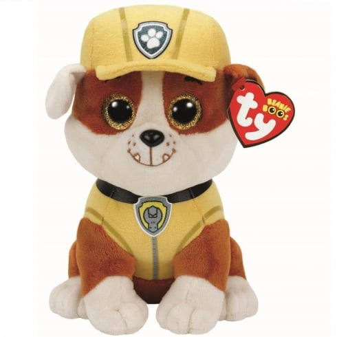 TY Paw Patrol Beanie Boos - Rubble Bulldog Plush Soft Toy