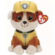 Paw Patrol Beanie Boos - Rubble Bulldog Plush Soft Toy