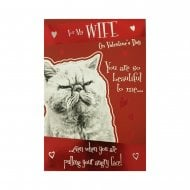 Paw Play For My Wife On Valentines Day Cat Card VA5005F