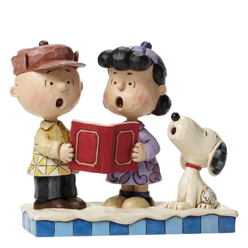 Jim Shore - Peanuts Peace On Earth Charlie Brown Lucy and Snoopy Caroling