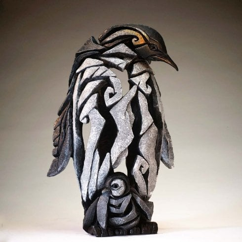 Edge Sculpture Penguin Figurine - Black & White