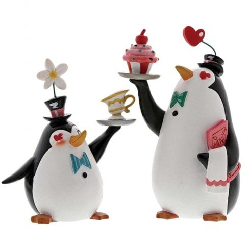 The World of Miss Mindy Presents Disney Penguin Waiters Figurine