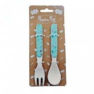 Peppa Pig-Bamboo Fork & Spoon Set