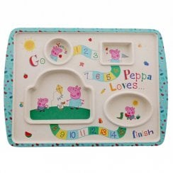 Peppa Pig-Bamboo Game Plate