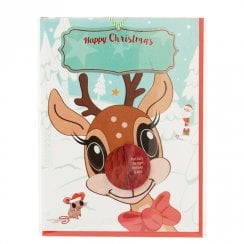 Personalise Your Christmas Card - Blank Reindeer