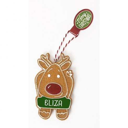 History & Heraldry Personalised Gingerbread Tree Decorations - Eliza