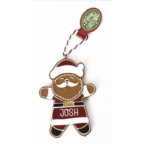 History & Heraldry Personalised Gingerbread Tree Decorations - Josh