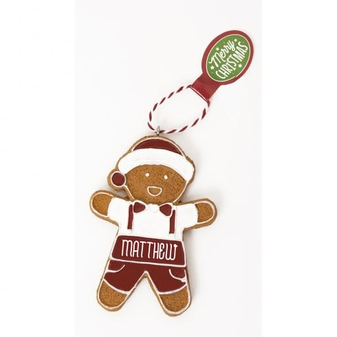 History & Heraldry Personalised Gingerbread Tree Decorations - Matthew