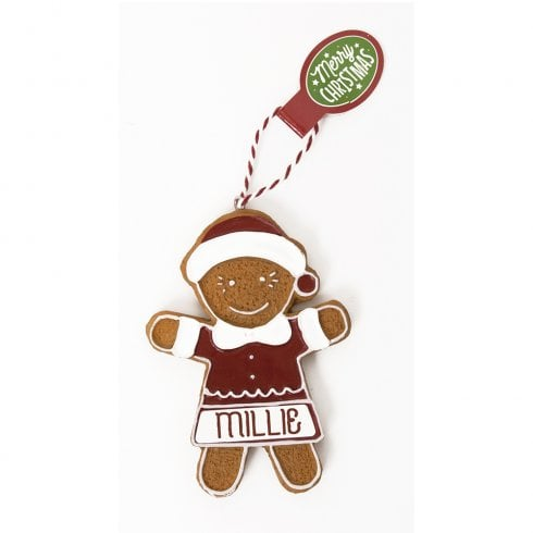 History & Heraldry Personalised Gingerbread Tree Decorations - Millie