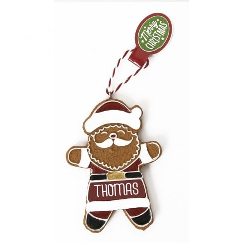 History & Heraldry Personalised Gingerbread Tree Decorations - Thomas