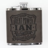 Personalised Hip Flask - Ian