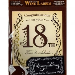 Personalised Wine Label - 18th