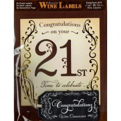 Personalised Wine Label - 21st