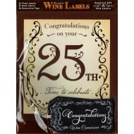 Personalised Wine Label - 25th