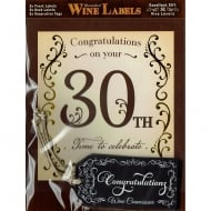 Personalised Wine Label 30th