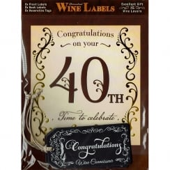 Personalised Wine Label - 40th