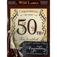 Personalised Wine Label - 50th