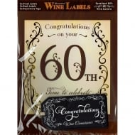 Personalised Wine Label - 60th