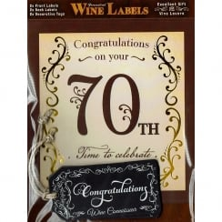 Personalised Wine Label - 70th