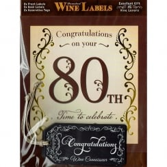 Personalised Wine Label - 80th