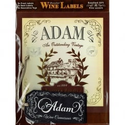 Personalised Wine Label Adam