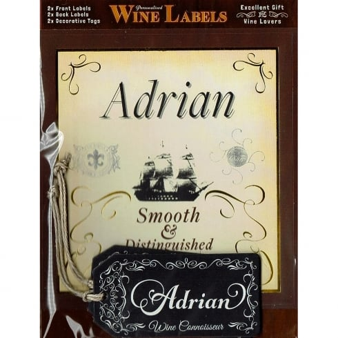 Mulberry Studios Personalised Wine Label Adrian