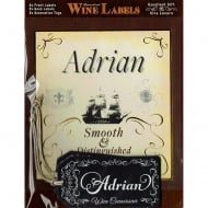 Personalised Wine Label Adrian